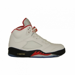 2013 Nike Air Jordan V Retro Fire Red White Black