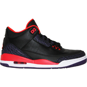 Air Jordan 3 Retro III Black Bright Crimson Canyon Purple