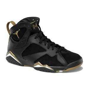 Air Jordan 7 Retro Black Metallic Gold